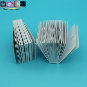 Custom logo printing fragrance smelling strips /perfume tester cards/strip test paper