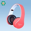 New super bass Bluetooth headphone in pink with V3.0, on ear cute design for girls