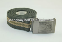 fabric canvas belts with pin buckle