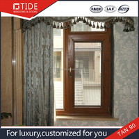 Construction material office sliding glass window