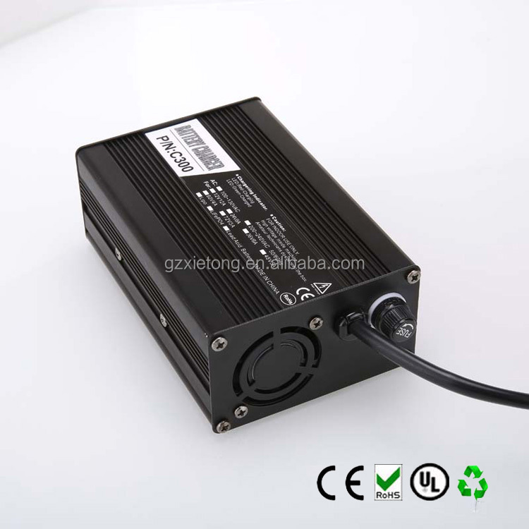wholesale 24v 8a lifepo4 battery charger for electric wheelchair CE and Rohs