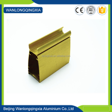 High Quality Low price champagne Color Brushed surface Wardrobe Door Aluminum fittings proflie
