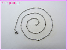 ZILU Small Stainless steel chain/ 316l stainless steel necklace/316l stainless steel jewelry