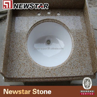 Newstar G682 47 inch bathroom manufacture natural granite stone vanity tops with sinks ( Good Price )