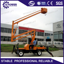 Cherry picker man lift 60 articulating small towable boom lift