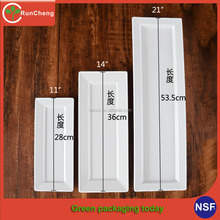 11-21inch High quality rectangular melamine sushi plates for cate