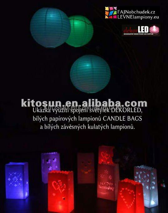 christmas/restaurant outdoor decoration for welcome led paper Lantern light