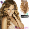 Private Label Superior Quality Grade 6A 7A 8A Double Drawn Unprocessed Blonde Clip In Hair Extension 7a Balayage