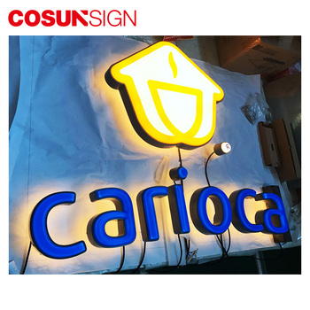 Led vacuum fromed 3D Shop advertising board signage LED English Alphabet Light up Building Awnings and Canopies