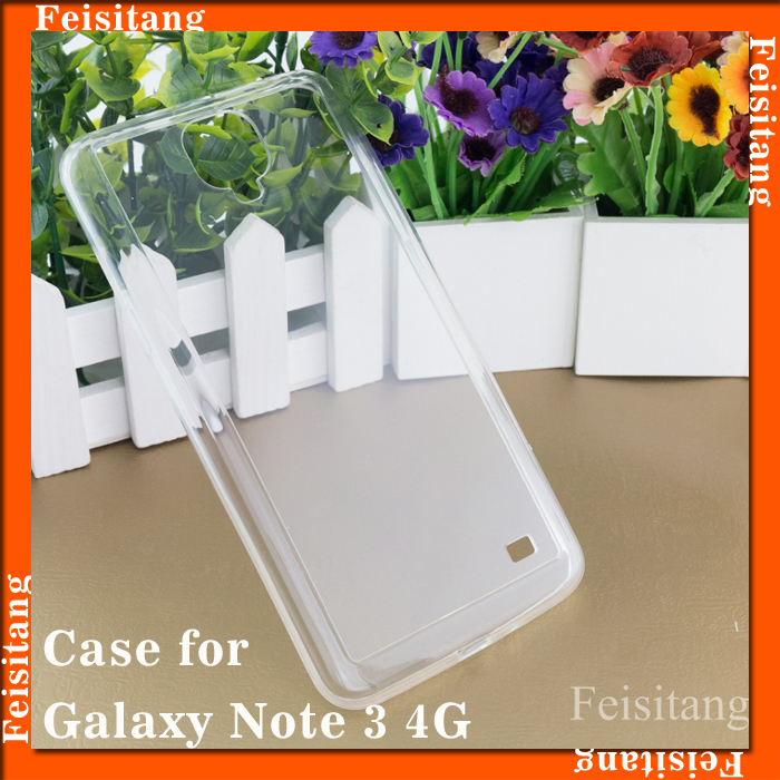Transparent materials Mobile phone cover case For Samsung galaxy note3 4g
