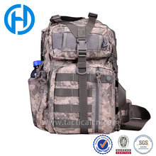 tactical molle plain cross shoulder day packs military waterproof digital camouflage single strap backpack