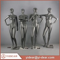 Black Glossy Female Full Body Mannequin with Plus Size