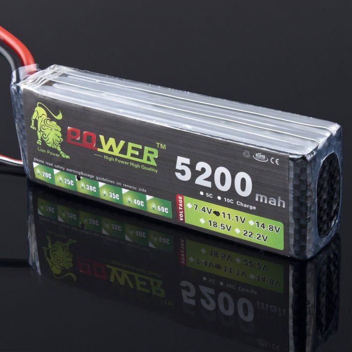 Facotory Wholesales Price Lipo Battery 3S LION 11.1V 5200MAH 30C rc car lipo battery pack