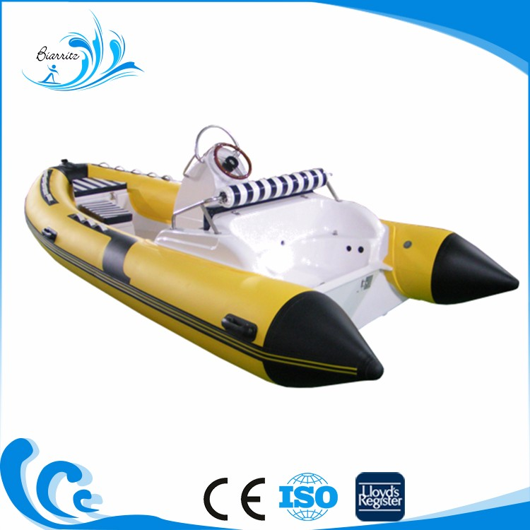 Chinese manufacturer oriented cheap small inflatable center console fishing boat for sale