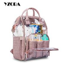 Transparent Large Capacity Nappy Bags Fashion Mummy Diaper Bag <strong>Backpack</strong>