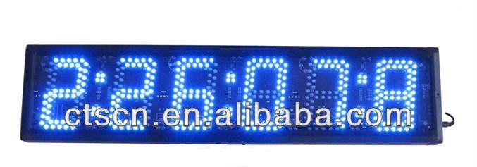china 5 zoll gro e digitale blaue led led led uhr stoppuhr timer wand zehntel sekunden stoppuhr. Black Bedroom Furniture Sets. Home Design Ideas