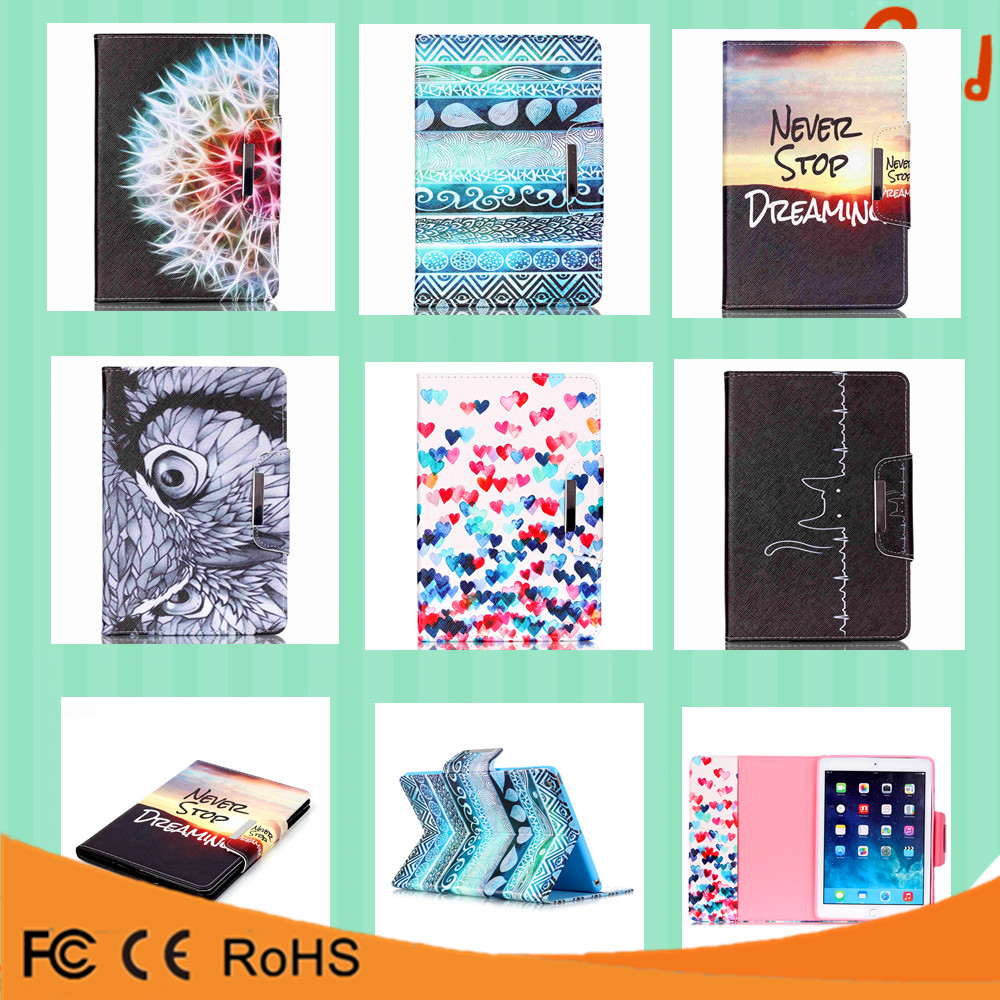 China suppliers card holder kickstand pu leather flip case cover for ipad mini 4