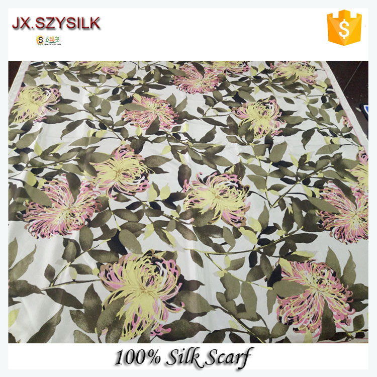 Indian Silk Scarf 100% silk printed silk scarves