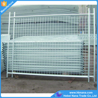 Australia market hot dipped galvanized temporary fence/ removable fence with palstic or iron feet
