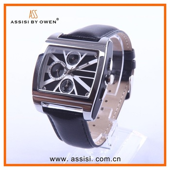 Assisi Fashion quartz watch stainless steel back from china factory with men watches luxury