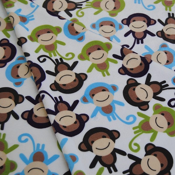 MOQ 10m Super Soft Cuddle Custom Design Minky Print Fabric