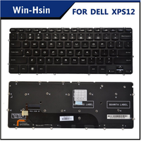 Original 100% new us laptop keyboard for dell xps 13 l321x l322x 9333 op6dwf backlit keyboard