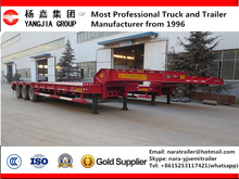 China Brand 3/4 Axles Extendable Low bed Semi Trailer /Hydraulic Steering Wind Blade Lowbed Trailer