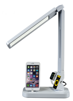 Creative multifunctional power station iphone mobile , apple watch and USB charger led desk lamp
