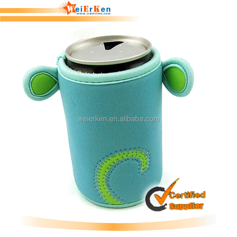 Customized and hot selling neoprene beer bottle cooler sleeve