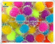 Party decorative glitter pom poms ball