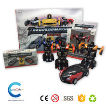 2017 Hot sale Friction Powered Deformation Robot Toy Car for Kids