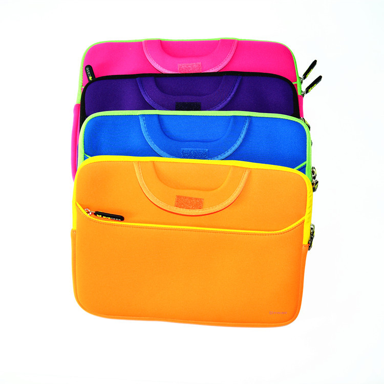 Factory hot sale neoprene laptop bag with handle