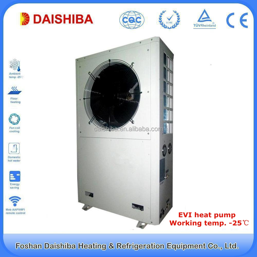 10kw Low Temp -25C Degree Copeland compressor evi heat pump air to water china for housing heating