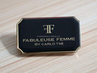 manufacturer custom high quality metal brand name plate logo for handbag