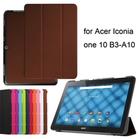 Slim PU Leather Universal Flip Case For Acer Iconia One 10 B3-A10 10.1Inch Tabelt Cover