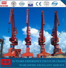 Factory direct supply 50 ton dockyard slewing type shipyard jib crane