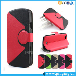 Hot Selling Hit Color Voltage Leather Flip Case For Infinix Hot 3 X554 Stand Case