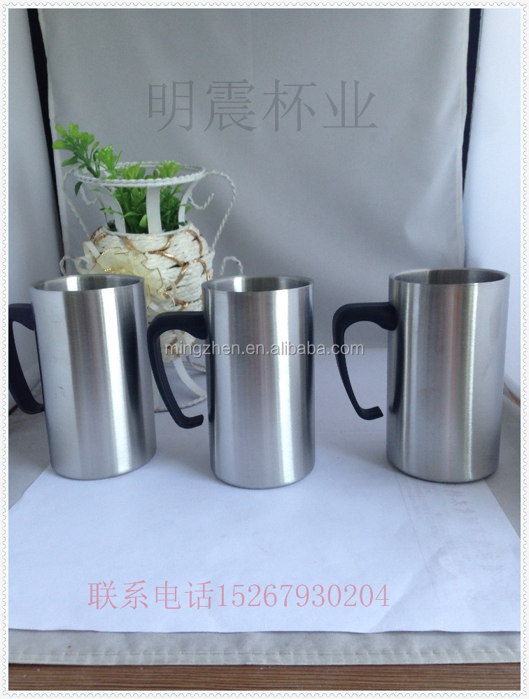 Logo Printed Custom Stainless Steel Double Layer Coffee Cup