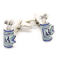 Colorful Bag Of Golf Clubs Cufflinks - 550118