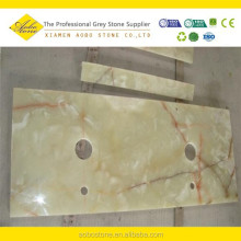 Cheap Polished Light green onyx vanity tops price