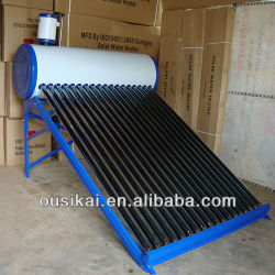 Pre-heated solar Water Heater with assistant tank