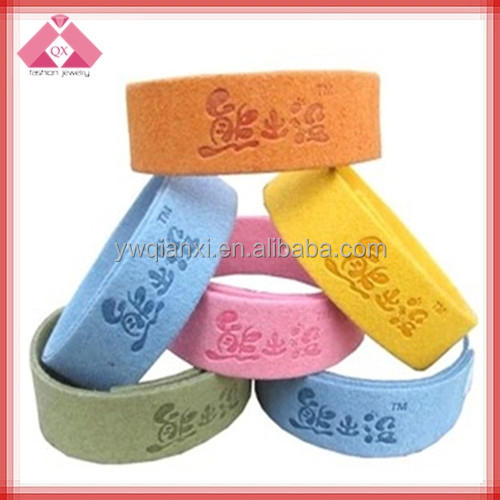 Wide Leather Baby Design Mosquito Repellent Bracelets Wholesale -BR15160