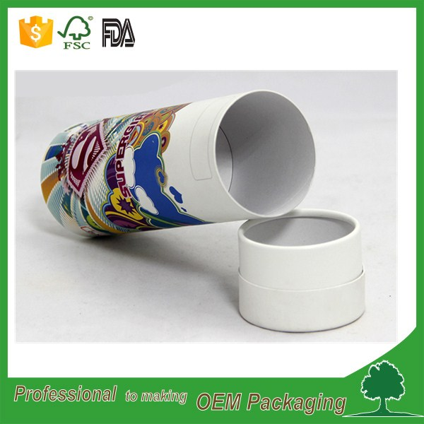 full color printing 30ml/60ml/100ml essential oil bottle paper tube with lid custom design luxury high end quality