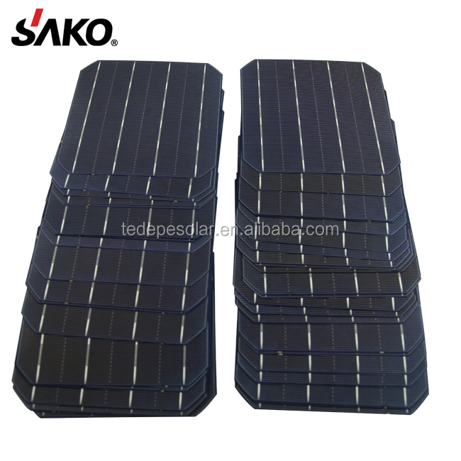 5BB High Efficiency 4.7W-4.8W A Grade Cheap156X156 Monocrystalline Solar Cell for sale