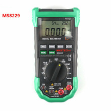 MS8229 Digital Multimeter 5 in 1 Noise Illumination Temperature Humidity Tester Diagnostic-tool Auto Range LCD Backlight