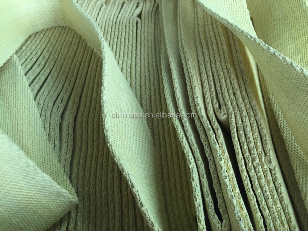 2016 High strengh Aramid fiber tape/kevlar fiber woven tape fabric/aramid fiber belt with yellow color for wholesale