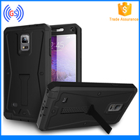 Waterproof All Cover Case, Stand Holder Phone Case, Feshion Robot Armor Case for Note 4