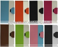 Kickstand wallet pu leather cases for ipad mini,pu leather cases for ipad mini factory