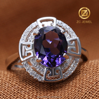 Sample harem one stone rings king and queen engagement wedding amethyst ring designs