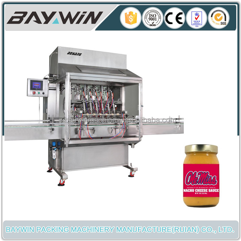 Measuring Controlled Cheese Sauce Bottle Filling Machine